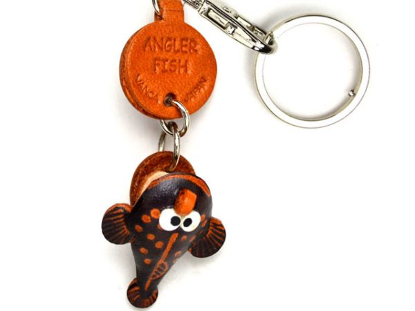 ANGLER FISH LEATHER KEYCHAINS FISH VANCA