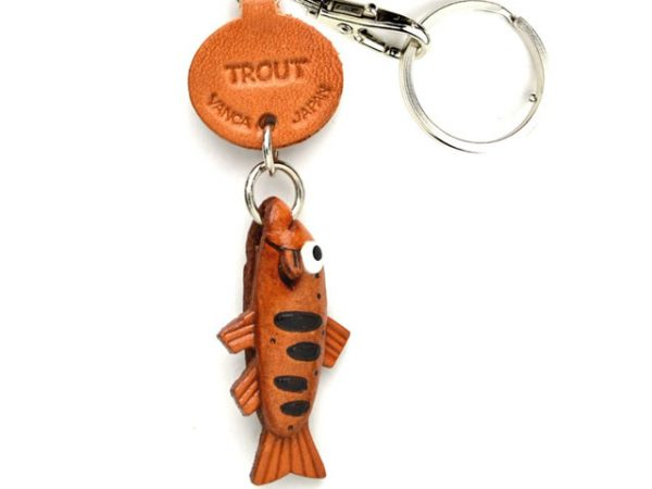 TROUT LEATHER KEYCHAINS FISH VANCA