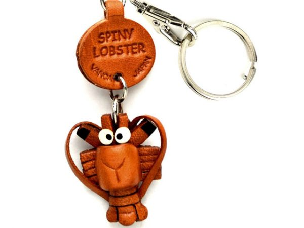 SPINY LOBSTER LEATHER KEYCHAINS FISH VANCA