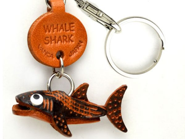 WHALE SHARK LEATHER KEYCHAINS FISH VANCA