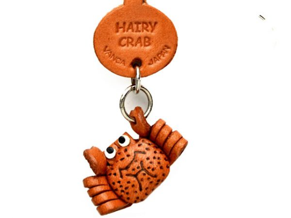 HAIRY CRAB LEATHER KEYCHAINS FISH VANCA