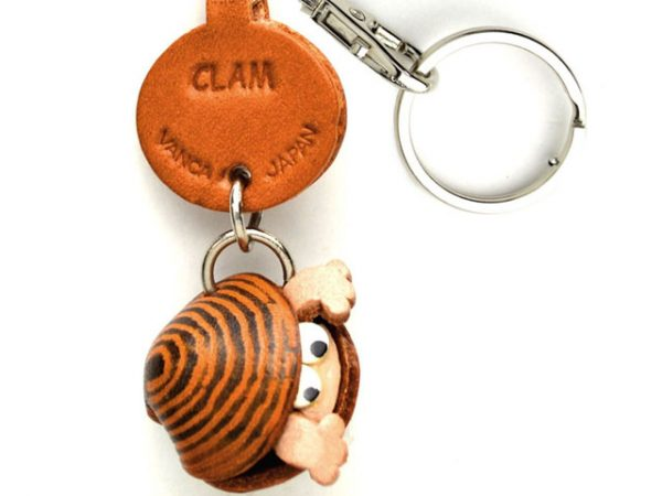 CLAM LEATHER KEYCHAINS FISH VANCA