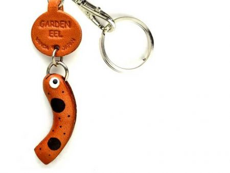 GARDEN EEL LEATHER KEYCHAIN SEA ANIMALS VANCA