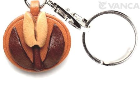 TULIP LEATHER FLOWER KEYCHAIN