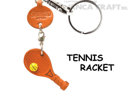 TENNIS RACKET LEATHER KEYCHAINS GOODS