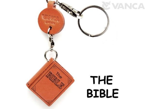 THE BIBLE LEATHER KEYCHAIN
