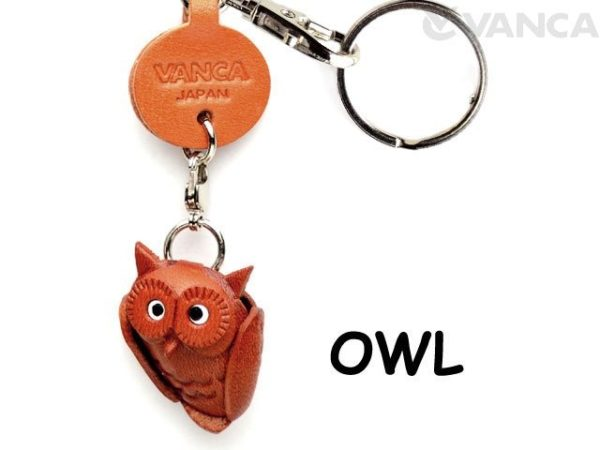 OWL LEATHER KEYCHAINS GOODS