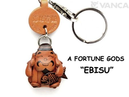 EBISU(GOD OF OCEAN) LEATHER KEYCHAIN