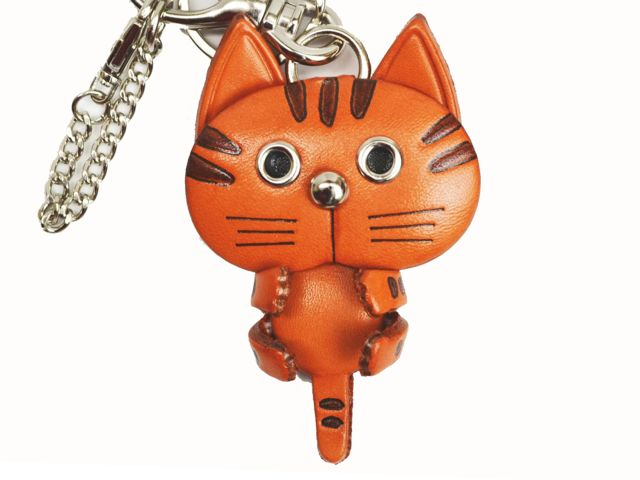 CAT LEATHER CAT BAG CHARM