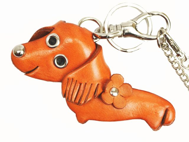 DACHSHUND LEATHER DOG ANIMAL BAG CHARM