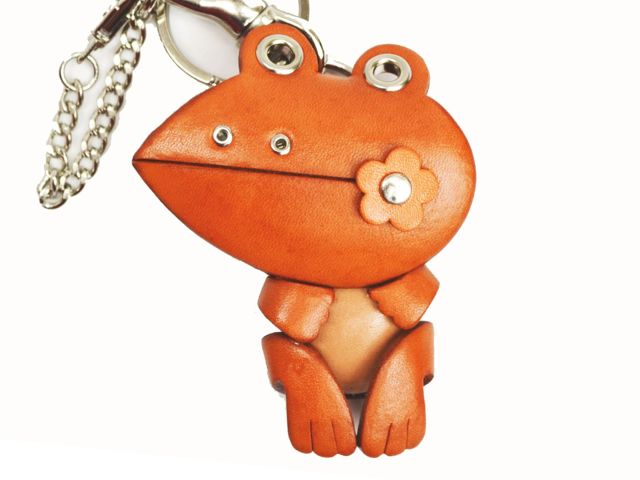 FROG LEATHER ANIMAL BAG CHARM