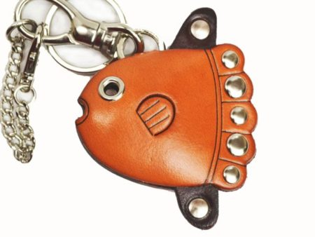 SUN FISH LEATHER FISH BAG CHARM