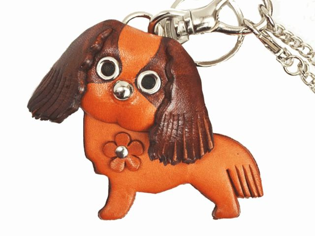 CAVALIER KC SPANIEL LEATHER DOG BAG CHARM