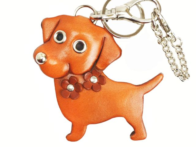 LABRADOR RETRIEVER LEATHER DOG BAG CHARM