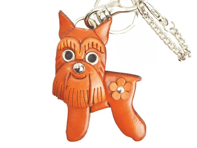 SCHNAUZER LEATHER DOG BAG CHARM