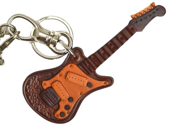 ELECTRIC GUITAR LEATHER GOODS BAG CHARM