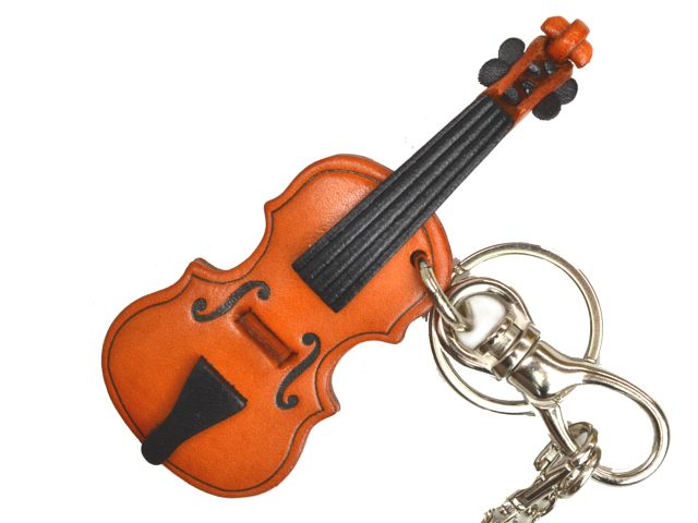 VIOLIN LEATHER GOODS BAG CHARM