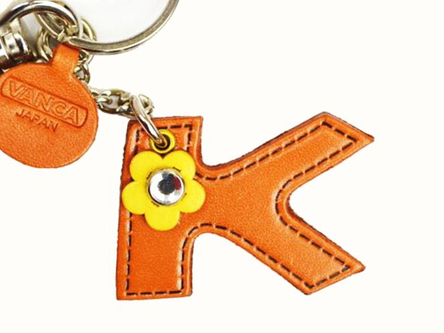 INITIAL K JAPANESE LEATHER BAG CHARM