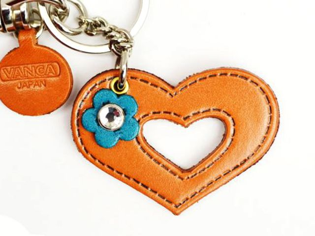 SYMBOLS HEART LEATHER KEYCHAIN BAG CHARM