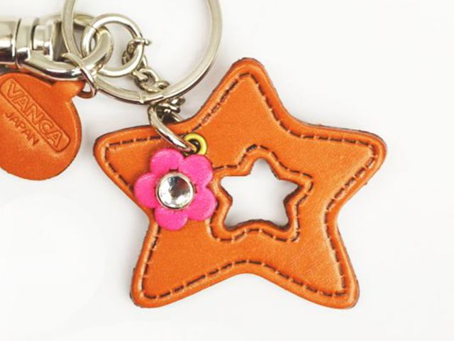 SYMBOLS STAR LEATHER KEYCHAIN BAG CHARM