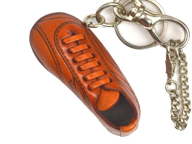 SOCCER SHOE LEATHER SPORTS KEYCHAIN BAG CHARM