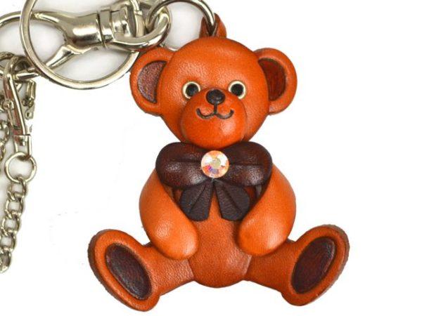 TEDDY BEAR LEATHER GOODS BAG CHARM