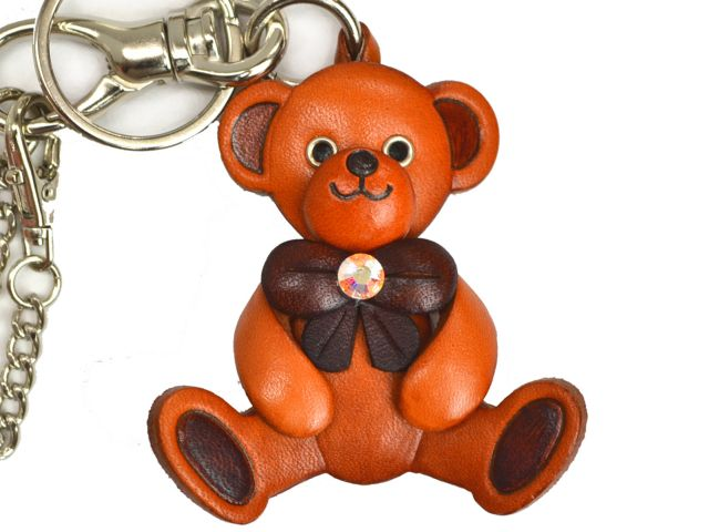 TEDDY BEAR LEATHER GOODS BAG CHARM