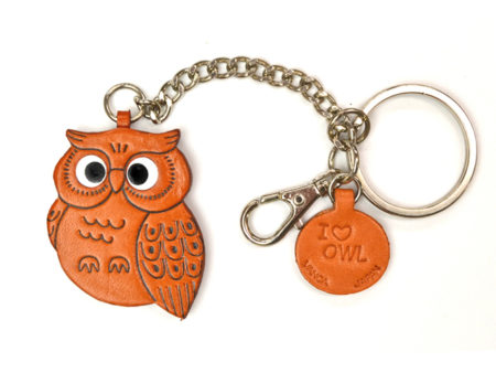 OWL LEATHER RING CHARM