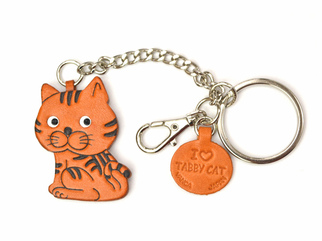 CAT LEATHER RING CHARM
