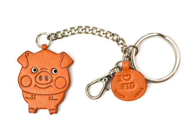 PIG LEATHER RING CHARM