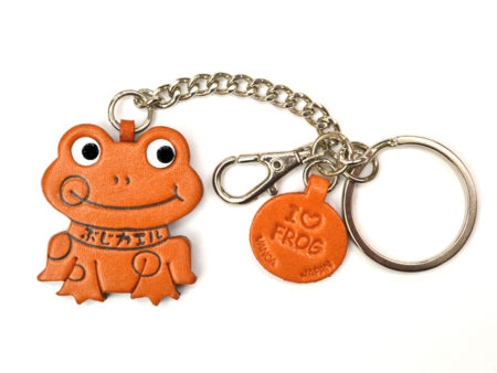 FROG LEATHER RING CHARM