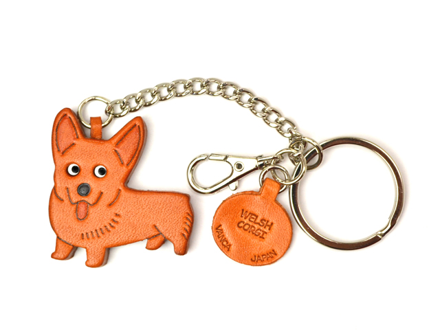 WELSH CORGI LEATHER RING CHARM