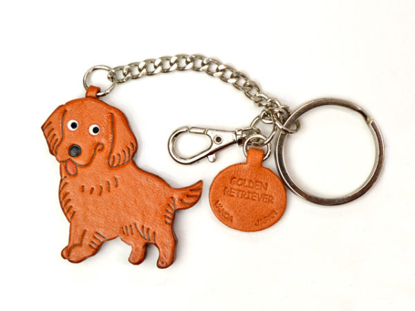 GOLDEN RETRIEVER LEATHER RING CHARM