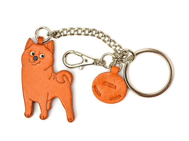 SHIBA LEATHER RING CHARM