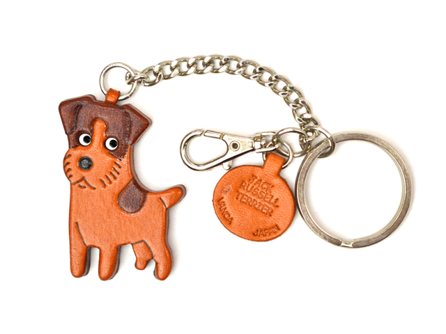 JACK RUSSELL TERRIER LEATHER RING CHARM