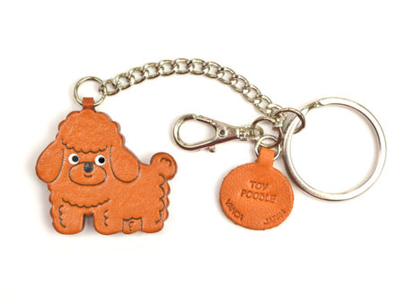 TOY POODLE LEATHER RING CHARM