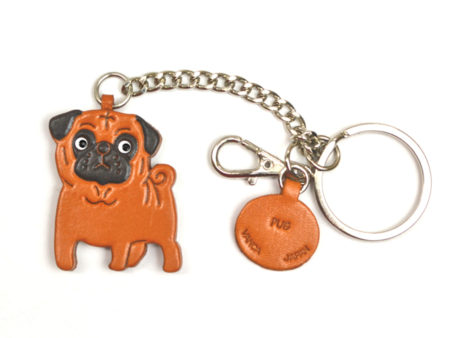 PUG LEATHER RING CHARM