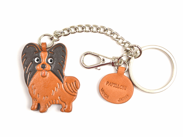 PAPILLON LEATHER RING CHARM