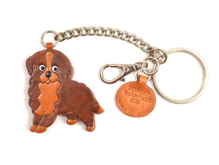 BERNESE MOUNTAIN DOG LEATHER RING CHARM