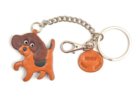 BEAGLE LEATHER RING CHARM