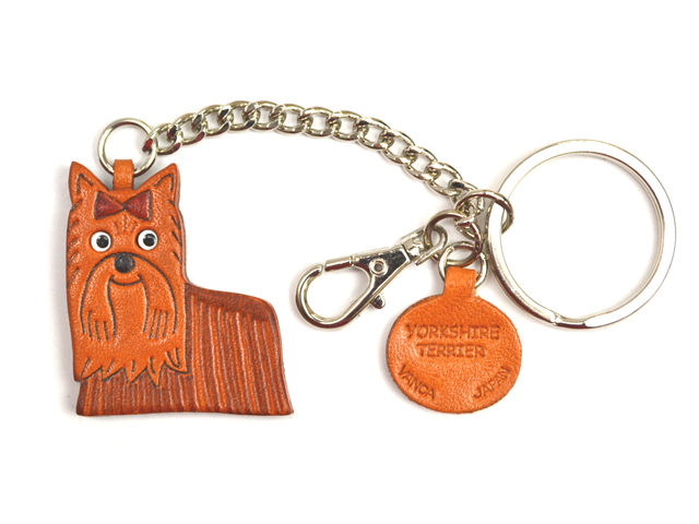 YORKSHIRE TERRIER LEATHER RING CHARM