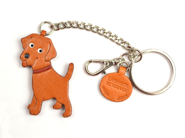 LABRADOR RETRIEVER LEATHER RING CHARM