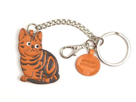 AMERICAN SHORTHAIR LEATHER RING CHARM
