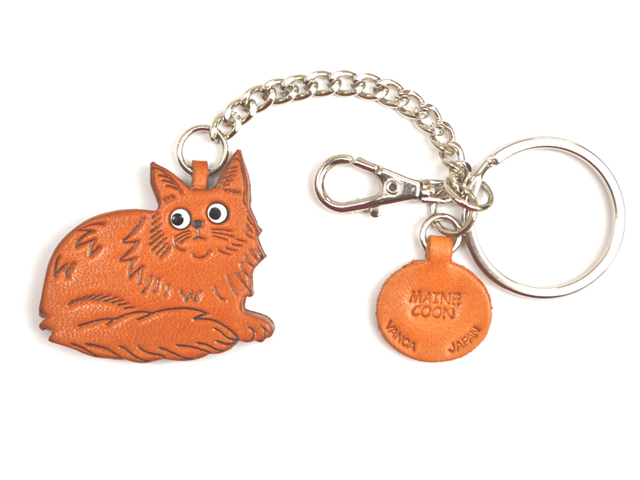 MAINE COON LEATHER RING CHARM