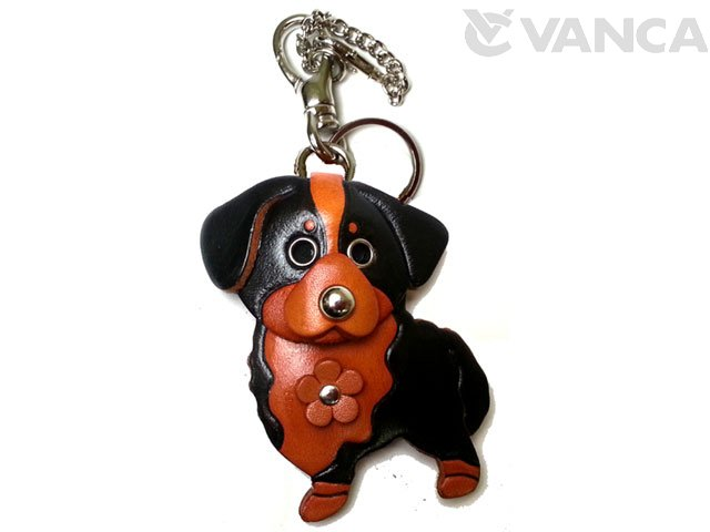 BERNESE MOUNTAIN DOG LEATHER DOG BAG CHARM