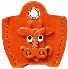 LEATHER KEY COVER CAP KEYCHAIN DRAGON