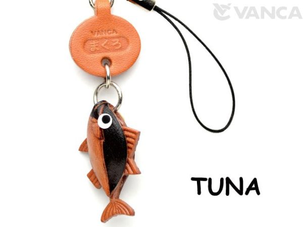 TUNA LEATHER CELLULARPHONE CHARM FISH