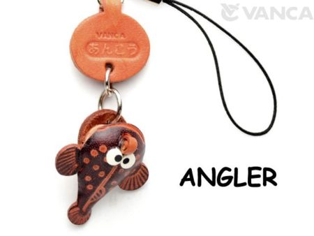 ANGLER LEATHER CELLULARPHONE CHARM FISH