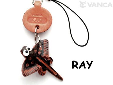 RAY LEATHER CELLULARPHONE CHARM FISH