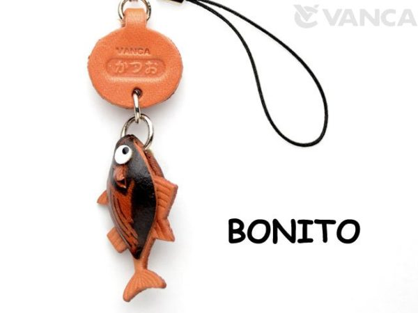 BONITO LEATHER CELLULARPHONE CHARM FISH